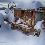 Snowy Old Tractor