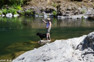 Bill and Reggie - Fly Fishing